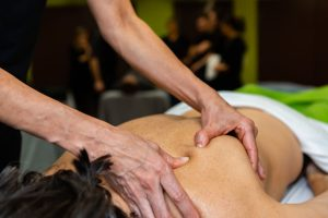 swedish massage therapy by a student