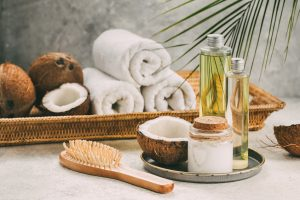 Natural coconut oil for body and hair care.